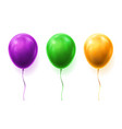set isolated 3d balloons for party or birthday vector image