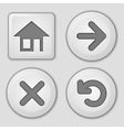 set of button vector image vector image