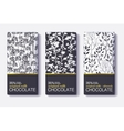 Set Of Chocolate Bar Black White and Gold vector image