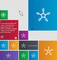 snow icon sign buttons Modern interface website vector image vector image
