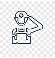 soldier concept linear icon isolated on vector image vector image