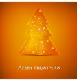 Stylized luminous christmas tree background with vector image