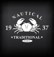 T-shirt print design Nautical marine badge design vector image