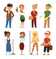 Temporary job professions set vector image vector image