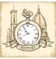 The concept of background about the history vector image