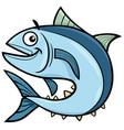tuna fish cartoon character vector image vector image