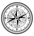 Vintage antique compass vector image vector image