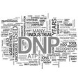what is dnp text word cloud concept vector image vector image