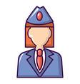 train conductor icon cartoon style vector image