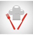 restaurant chef symbol icon vector image