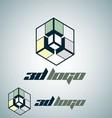 3d logo 4 vector image vector image