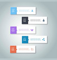 5 steps of infographic with sky blue grey purple vector image