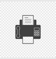 a minimalistic fax icon with a handset on vector image vector image