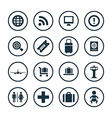 airport icons universal set vector image vector image