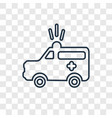 Ambulance concept linear icon isolated on