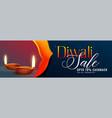 awesome diwali sale banner design background vector image vector image