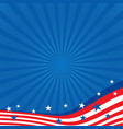 Background in colors of the American flag vector image vector image