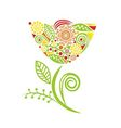 Beautiful pattern flower vector image vector image