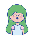 beauty woman with hairstyle design vector image vector image