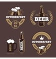 Beer label templates for beer house brewing vector image vector image
