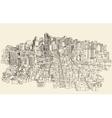 Big city Architecture Engraved Sketch vector image vector image