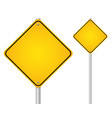 blank-empty yellow road sign vector image