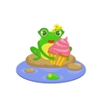 Cartoon Frog Character With Cupcake
