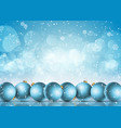 christmas baubles on a snowflake background vector image vector image