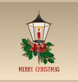 Christmas card Christmas lamp vector image vector image