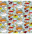 Comic Seamless Pattern vector image