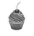 cupcake glyph icon vector image