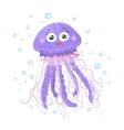 Cute jellyfish isolated T-Shirt design children vector image