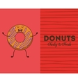 delicious donuts design vector image vector image