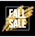 fall sale promo label golden glitter template vector image