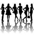 Fashion silhouettes of women vector image vector image