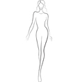fashion sketch of catwalk woman vector image vector image