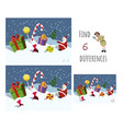 find 7 differences educational game for children vector image vector image