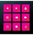 flat media icon set vector image
