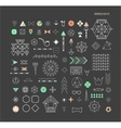 geometric linear shapes vector image