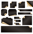 gold paper curls vector image vector image