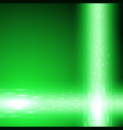green background with stream of binary code vector image vector image