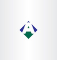 green blue letter a arrow logo icon symbol vector image vector image