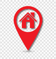 Home pin pointer vector image vector image