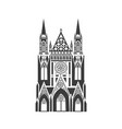 icon of the catholic cathedral vector image vector image