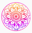 indian simple mandala with floral motif vector image