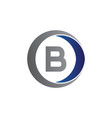 initial letter b and circle icon logo modern