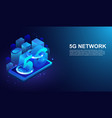 isometric 5g network wireless systems on vector image vector image