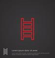 ladder outline symbol red on dark background logo vector image vector image