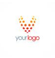letter v dot logo vector image vector image