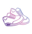 line sport sneakers style design vector image